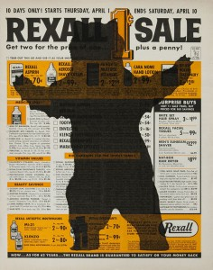 Untitled (rexall), inkjet on magazine page, 2010